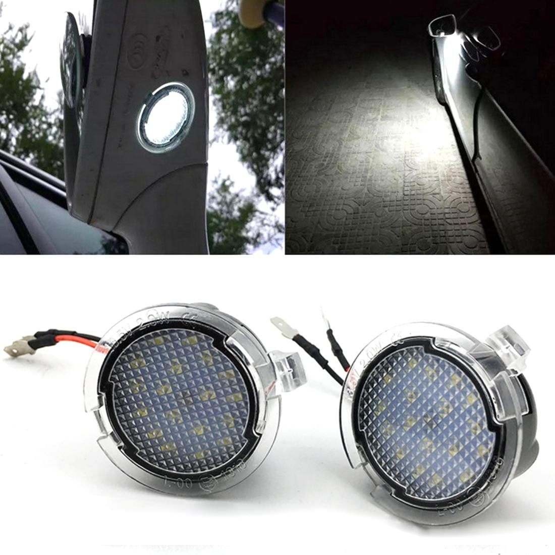 Niscarda 2Pcs Under Mirror Puddle Light For ford Edge Fusion Flex Explorer Mondeo Taurus F-150 Expedition Super bright Auto Lamp