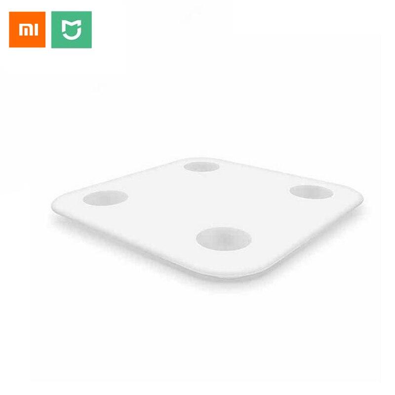 Оригинальный Xiaomi mi умное тело жировых отложений 2 mi fit приложение и состава тела монитор с Скрытая светодиодный Дисплей и большой коврик для ...