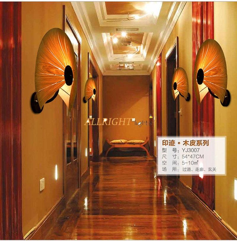 In legno naturale per il ventilatore/cuore di amore ombra lampada da parete montato con metallo, ferro, nuova decorazione souutheast stile per il caffè negozio di barshop - 6