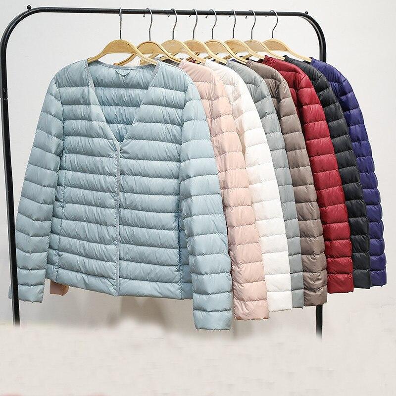 Sanishroly Two Wear Plus Size 4XL New Women Down Jacket Parka Ultra Light White Duck Down Coat Ladies Short Outerwears Tops S387