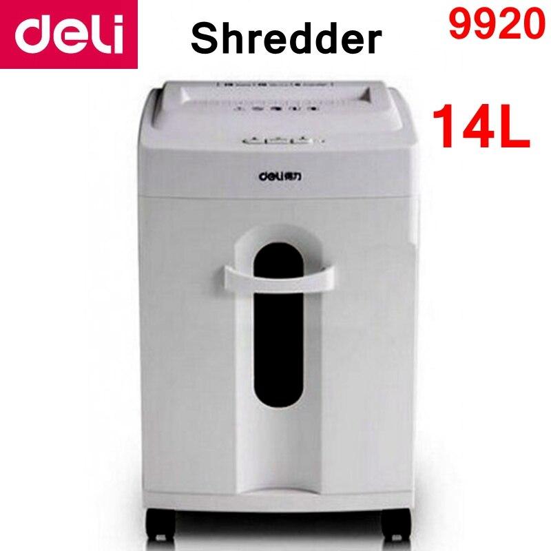 [ReadStar] 2017 nouveau type défibreur électrique Deli 9920 volume 14L 220-230VAC/50Hz économie d'énergie arrêt automatique type de tiroir de défibreur de papier