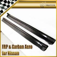ЭПР Стайлинга Автомобилей Углеродного Волокна Дверной Порог Панель Для Nissan Skyline R34 GTR GTS