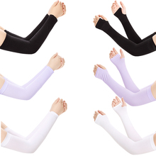 SHOUHOU 1 PC Summer Cooling Arm Sleeve Icy Unisex Sports Running Cycling Pure Arm Sleeve For Sun Protection
