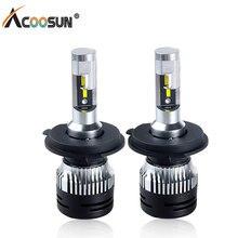 AcooSun Led H4 H7 led H1 H11 Car fog light HB4 led bulb 12V 6500K 10000LM 50W para auto bulbs 9006 9005 HB3 Flip chip fog lamp