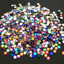 5MM AB Nail Art Rhinestones  Acrylic Round Glitter DIY Nail Decorations Colorful   hot sale 2000pcs 1 5mm nail art decorations 3d clear transparent round glitter diy nails sticker rhinestones beauty tools me88