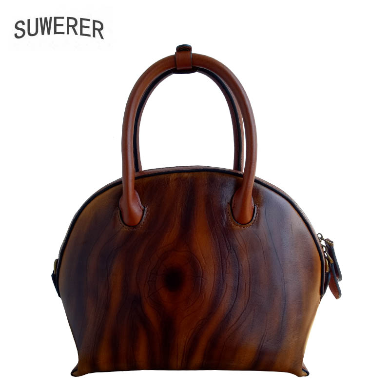 SUWERER Genuine Leather women bags for women 2019 new Unique design process fashion luxury handbags women bags designer SUWERER Genuine Leather women bags for women 2019 new Unique design process fashion luxury handbags women bags designer