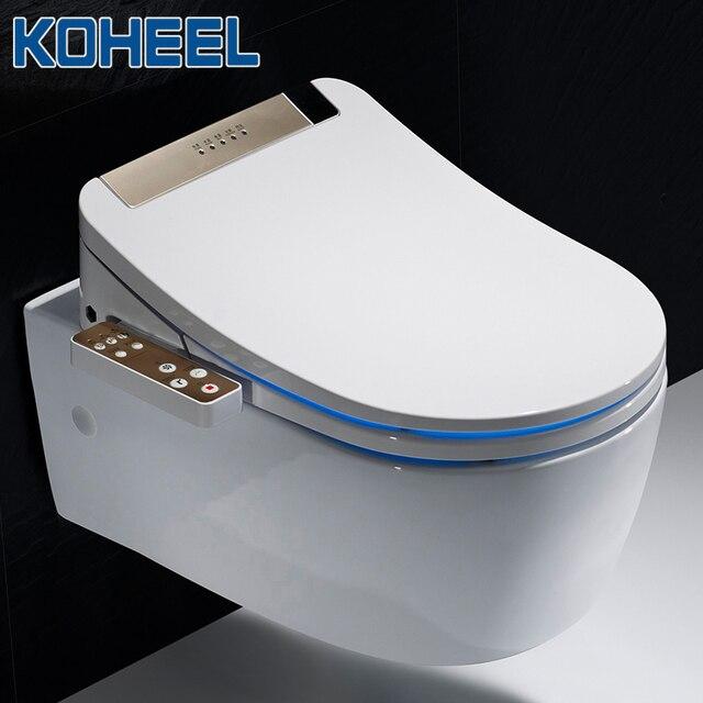 KOHEEL LCD 3 สีอัจฉริยะที่นั่งยาว Bidet ไฟฟ้าสมาร์ท Bidet ความร้อนสมาร์ทห้องน้ำที่นั่ง