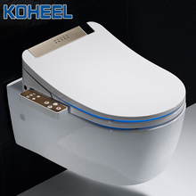 Koheel Lcd 3 Kleur Intelligente Toiletzitting Langwerpige Elektrische Bidet Cover Smart Bidet Verwarming Slimme Toiletbril