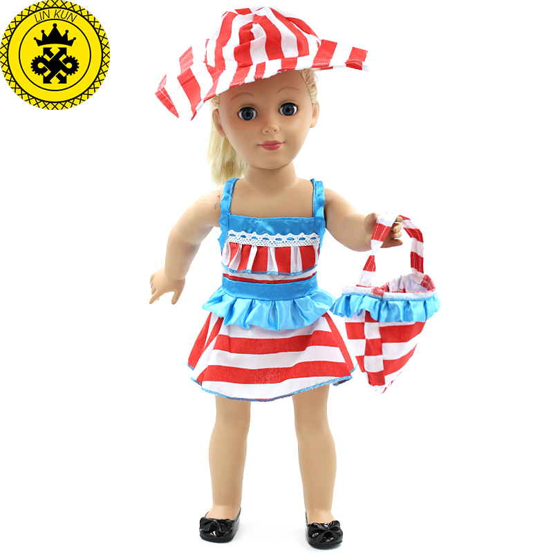 Bikini Nurse wear Beach Suit American Girl Dolls Clothing of 18 inch Doll Dress Girl Best Gift 7 Style Options D-5 american girl doll clothes elegant color flower print long dress doll clothes for 18 american girl best gift 5 colors d 2