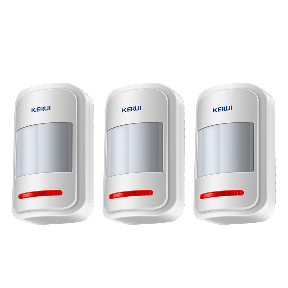 3pcs/Lot KERUI High-Grade Wireless 433MHz Infrared Detector PIR Motion Sensor Alarm System Accessory For G18 G19 W1 W2 Alarm wireless vibration break breakage glass sensor detector 433mhz for alarm system