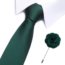 Men`s Tie Green Novelty 100% Silk brooch Set For Men Formal Wedding Party Groom Business Valentines Gift for men