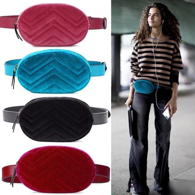 2018 summer high quality belt bag waist bag round fanny Pack women luxury brand leather handbag red black beige drop shipping
