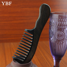 Pure Handmade Natural Ox Horn Chacate Preto Wide tooth Wooden Hair Combs Antistatic Professional For Women Long Tresses Brush