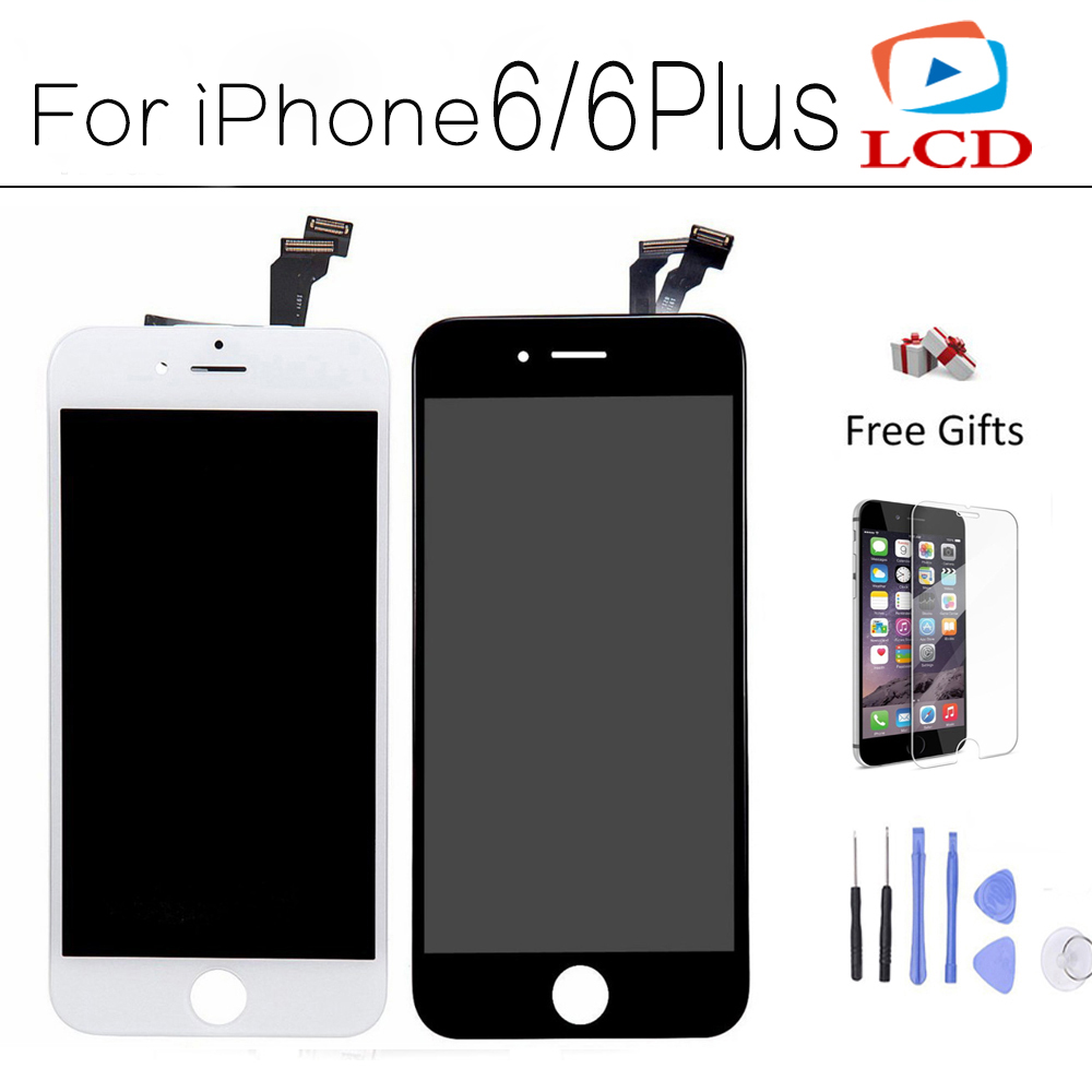 CXD-KX AAA Quality For iPhone 6 LCD Display with Touch Screen For iPhone 6 Plus LCD Digitizer Assembly Black White Tools + Glass