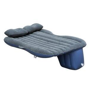 Image 3 - Надувная кровать для заднего сиденья автомобиля, ПВХ, надувная дорожная кровать, надувной матрас для кемпинга