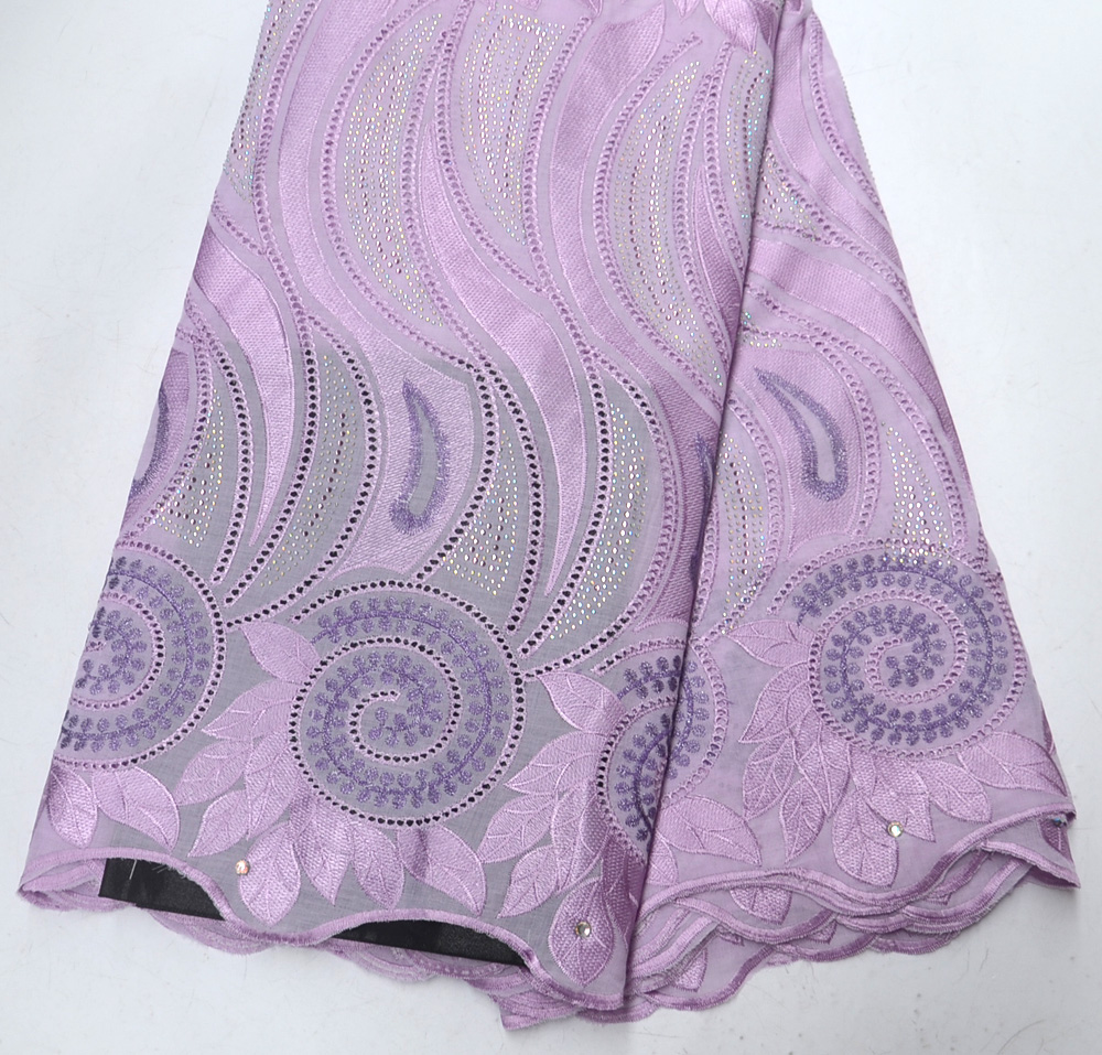 New Arrivals High Quality Swiss Design African Voile wedding lace fabric traditional Quality lilac Swiss Voile wedding lace
