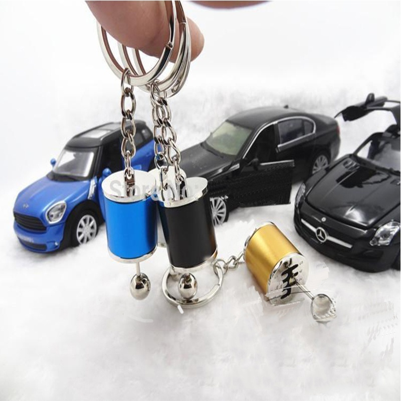 Hot Auto Parts Turbo Tuning Gearshift Car Keychain Absorber Keyring
