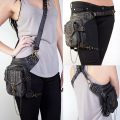 Men Women Steampunk Retro Rock Gothic Shoulder Waist Bag Leg Thigh Pack