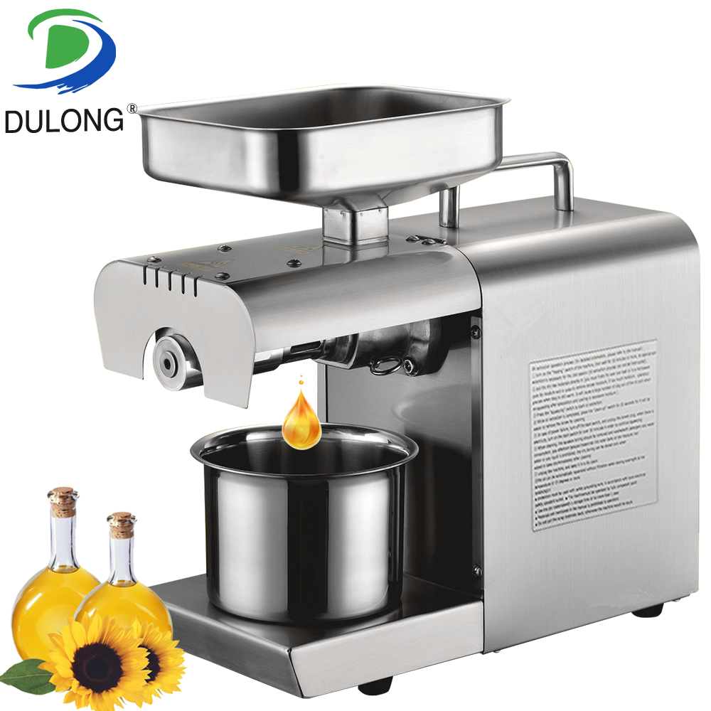 New Arrival Stainless Steel 110V Or 220V Oil Press Machine Commercial Home Oil Extraction Expeller 110v 220v commercial oil press machine for sale mini oil expeller seed oil extraction machine coconut almond sesame