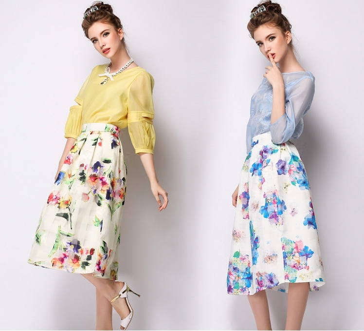 floral pleated skirt page 1 - mother