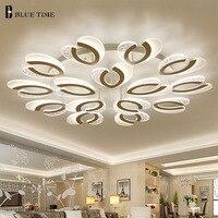 Белый закончил Современный LED Потолочные светильники для гостиной Спальня Обеденная фойе 30 Вт дома Освещение потолок Освещение светильник