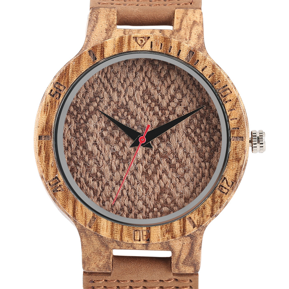 Creative Shiny Weave Bamboo Wood Watch Nature Analog Quartz Cool Men Wristwatch Women Leather Strap Bracelet Handmade Clock Gift Fashion (41)