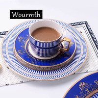 Top Grade Bone China Tableware Home Restaurant Dinner Service Steak Dish Pastry Plates Coffee Cups And