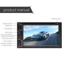 Bluetooth MP5 плеер DVD/CD/U диск плагин MP3 машины Дисплей Авто Запчасти автомобиля Радио 7 дюймов резистивный Экран автомобиль установлен плеер
