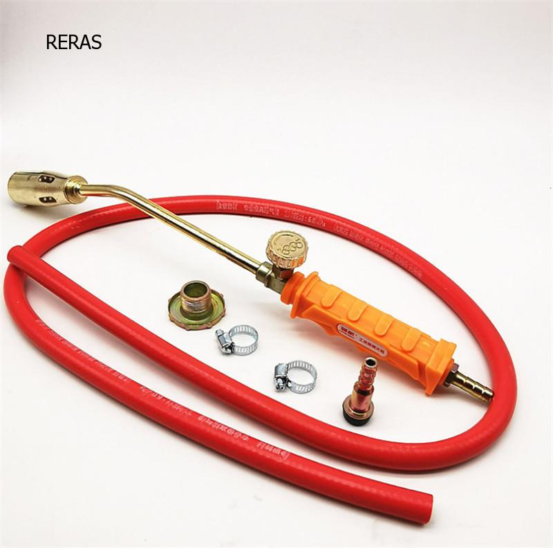 Long Arm Gas Welding Torch Soldering Burner Heating Ignition Hose Regulator Brazing Tool Outdoor Picnic BBQ Accessories for fre