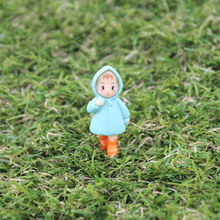 1 PC Miyazaki Mini Xiaomei Girl Ornaments Fairy Garden Miniature Gnome Moss Micro Landscape Terrarium Bbonsai Decor Resin Craft