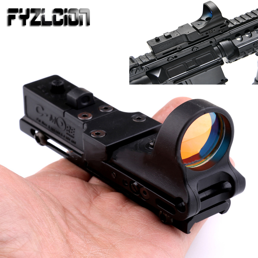 Tactical Red Dot Sight Scope EX 182 Element SeeMore Railway Reflex C-MORE Red&Green Illumination Scope  For Airgun Air Rifle
