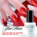 YAOSHUN Red Color UV Soak Off Gel Polish Long Lasting Led Gel Varnish DIY Nail Art Gel Lacquer