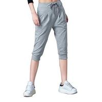 Gresanhevic New 2018 Women S Knit Jersey Banded Knee Pants Drawstring Walking Shorts
