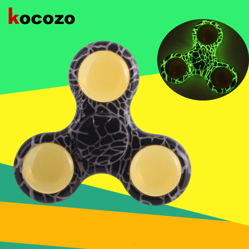 Camouflage Luminous Spinner Fidget Toy Plastic EDC Hand Spinner For Relieve Stress Autism Focus Toys Kids Birthday Gift