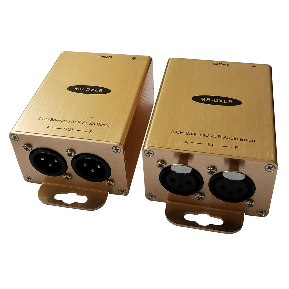 Cat5 Balanced Audio Extender XLR Audio Balun AES Analog Audio Over Cat5-in Amplifier from Consumer Electronics    1