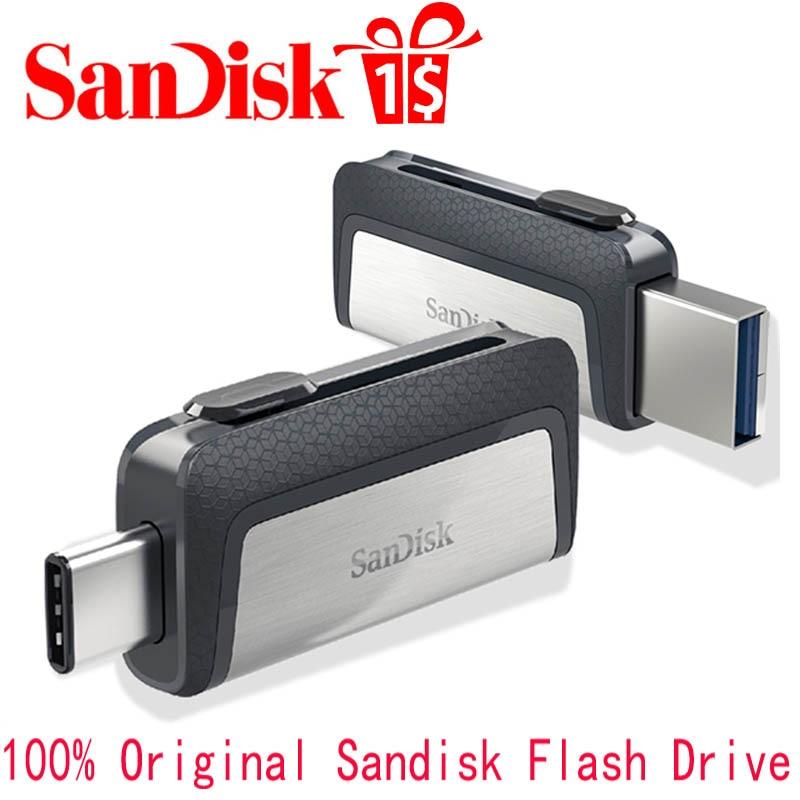 Sandisk USB Flash Drive Disk USB 3.1 16GB 32GB 64GB 128GB Mini Pen Drive Pendrive Memory Stick Storage Device U Disk