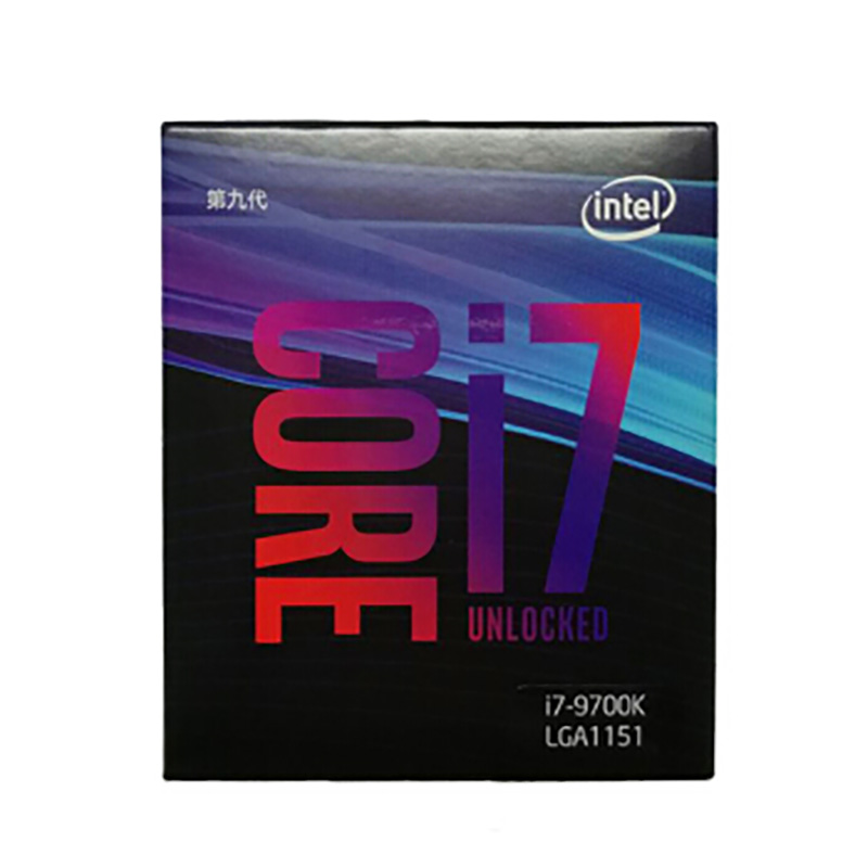 Nova marca intel i7 9700 k CPU 3.6g 95 w 8 Núcleos 8 Threads LGA 1151 CPU Desktop 14nm 12 mb Cache HD VGA