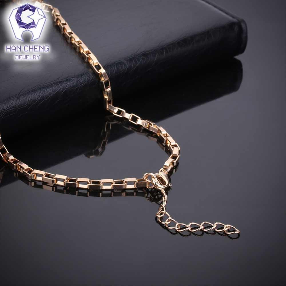 HanCheng חדש אופנה זהב יוקרה ריינסטון נוצר קריסטל עגול תליון שרשרת/עגילים לנשים תכשיטי קולייר femme