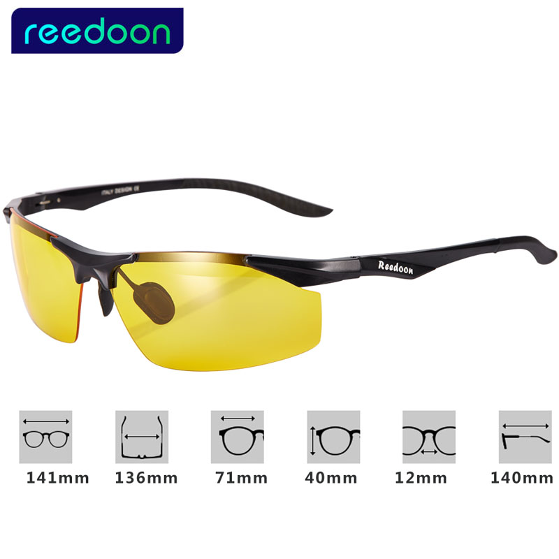 12ebae06952 REEDOON Polarized Sunglasses Men Night Vision Goggles Men s Fishing Driving  Glasses Male Oculos Anti Glare Sun glasses For Men-in Sunglasses from  Apparel ...