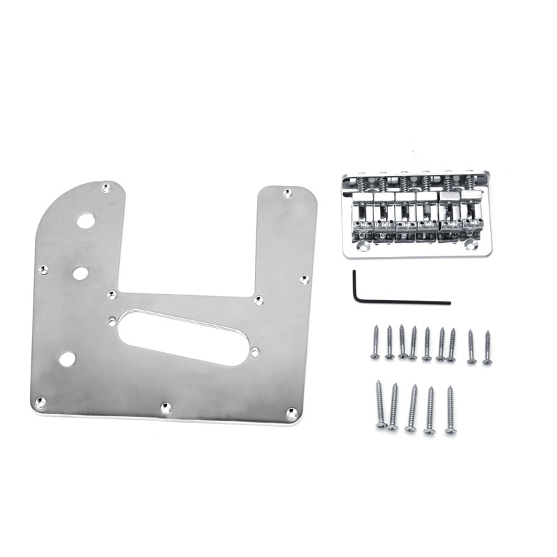1Set Chrome 6 String Electric LAP Steel Guitar Control Plate With Bridge Guitar Parts wholeslale dave grohl dg335 es 335 6 string electric guitar with great logo es 335 in white 100913