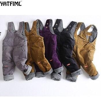 YATFIML, 2018, pantalones gruesos de algodón para bebés, pantalones para niñas, monos para niños, monos tejidos a la moda, monos para bebés