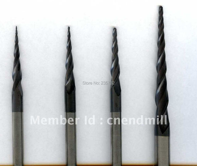 Tungsten solid carbide long shank taper end mill