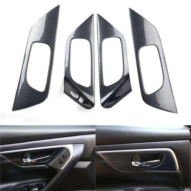 For Nissan Altima 2013 2014 2015 2016 2017 2018 LHD Car Interior Door Handle Cover Car Trim Styling ABS Car Accessories 4pcs/set