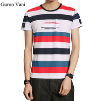 2017 Summer New Men S 95 Cotton Short Sleeve T Shirts Casual Striped O Neck Slim