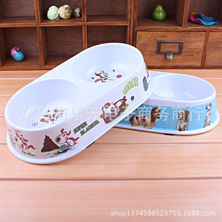 New Pet Puppy Cat Dog Water Dispenser, Dual Port Drink Feeding Bowl Cat Food Bowl Tray For Dogs, Products For Dogs Free Shipping