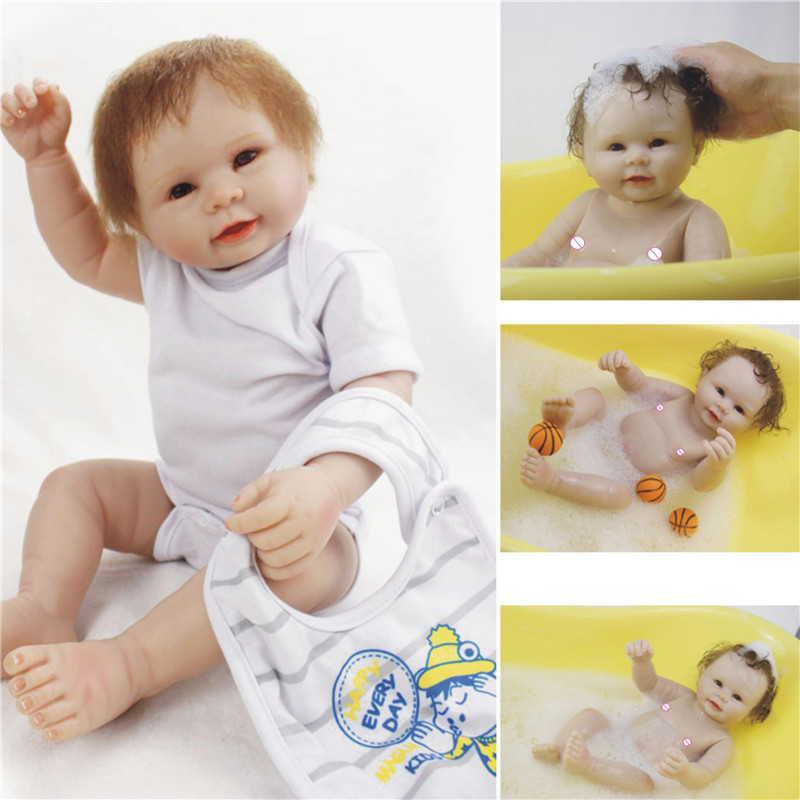 NPK 22inches 55CM Full Body SIlicone Reborn Babies Doll Bath Toy Lifelike Newborn Princess Baby Doll Bonecas Bebes Reborn MeninoNPK 22inches 55CM Full Body SIlicone Reborn Babies Doll Bath Toy Lifelike Newborn Princess Baby Doll Bonecas Bebes Reborn Menino