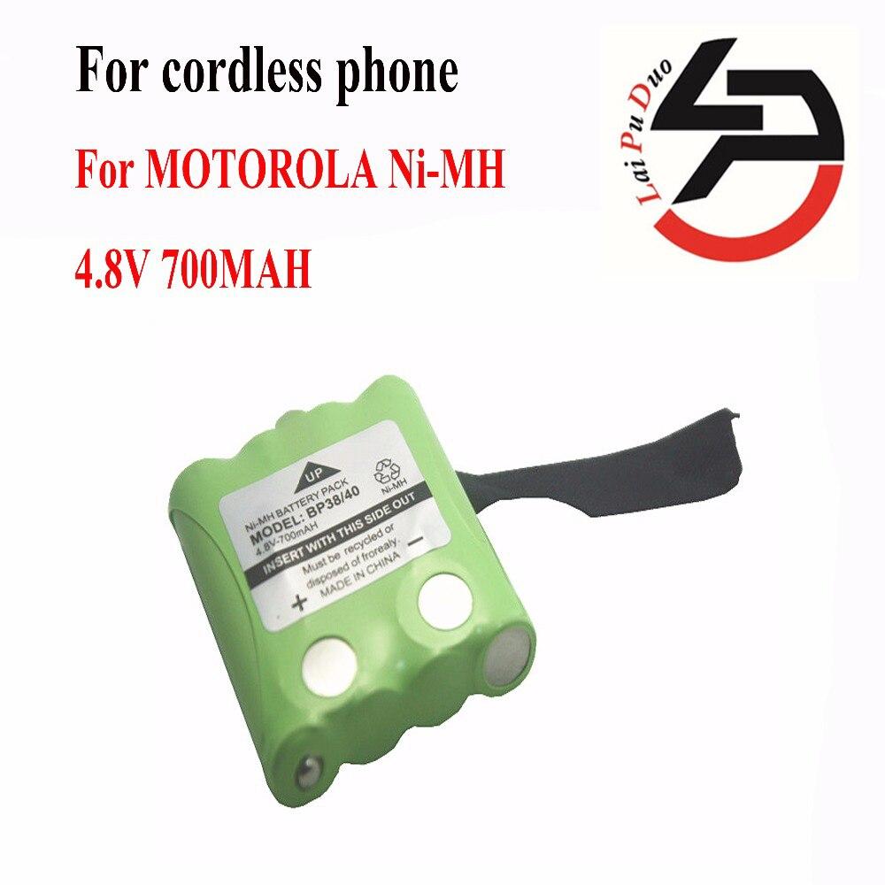 2pcs/lot 4.8V 700MAH NI-MH Battery For Uniden BP-38 BP-40 BT-1013 BT-537 For MOTOROLA TLKR T4 T5 T6 T7 T8 Series Model 15x phone battery for uniden bt 1016 bt 1021 bt 1025 bt 1008 with43 269 wx12077