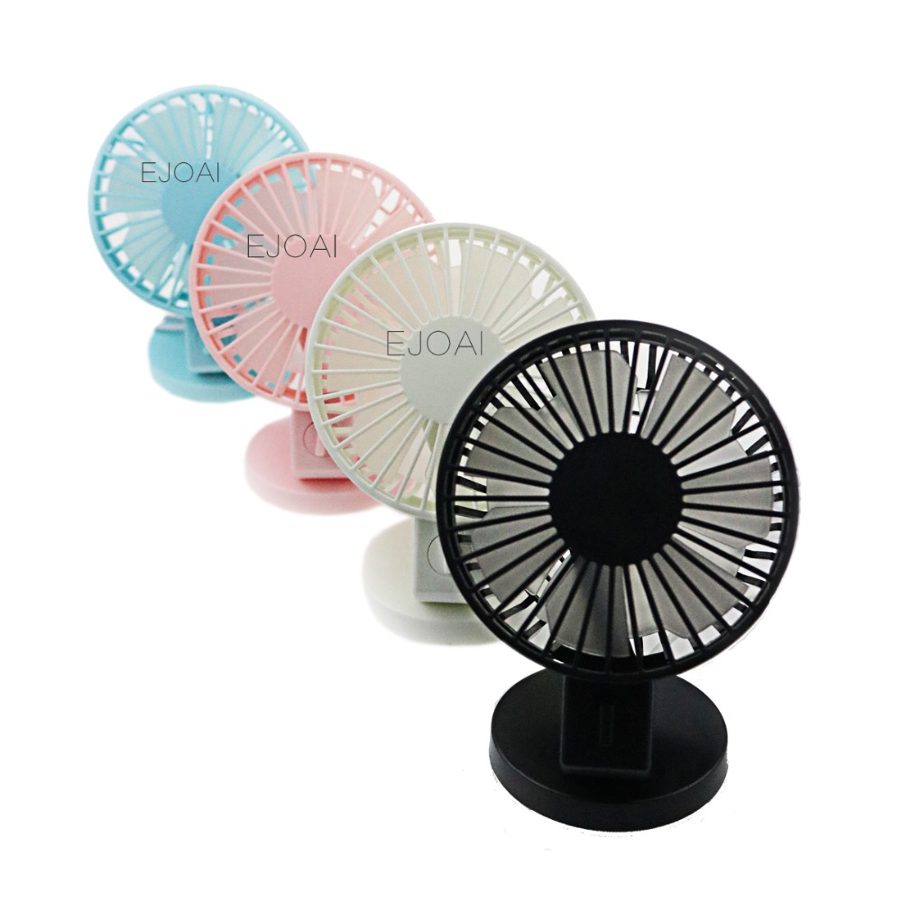 ejoai Ultra-quiet Mini USB Desk Fan Office Mini Fan Silent Desktop Fan With Double Side Fan Blades Creative Home