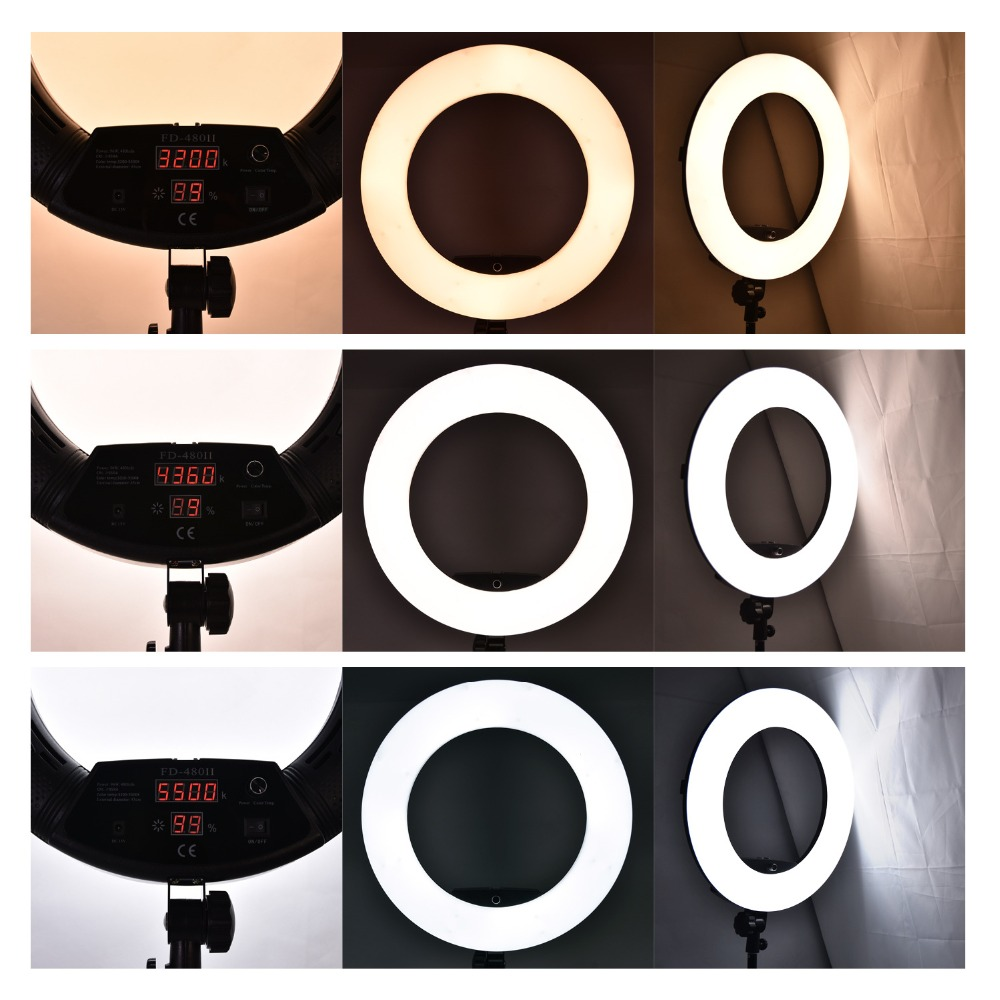 18 inch Photography Ring Light Dimmable 5500K LED Ring Lamp with Tripod LCD Screen Mirror For Camera Photo Video YouTube Live in Photographic Lighting from Consumer Electronics