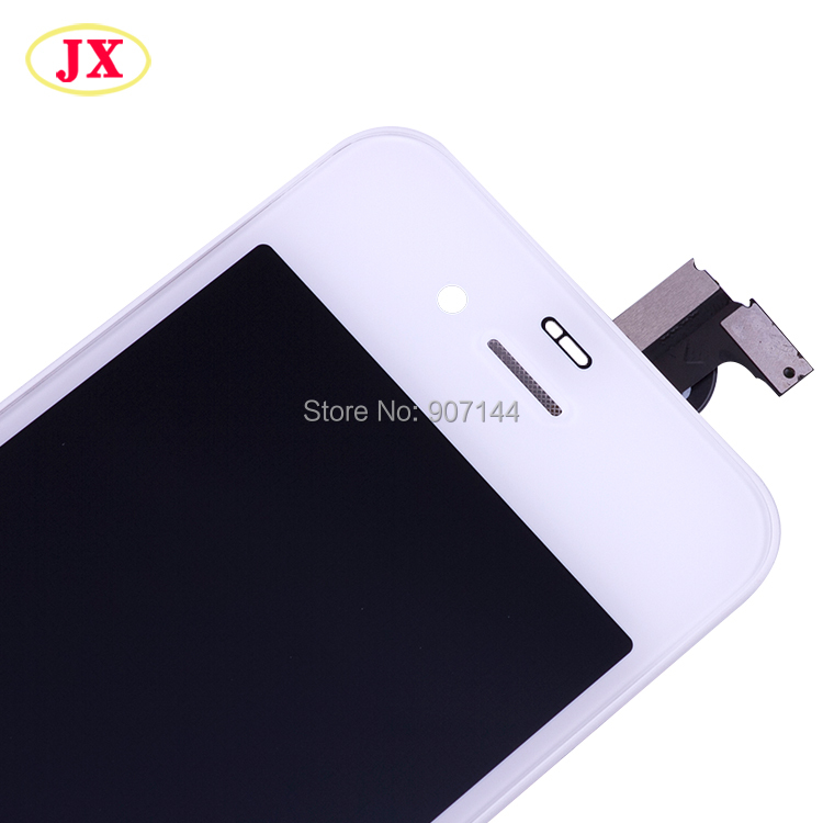 20Pcs/lot Oem Alternative Liquid crystal display Contact Display Digitizer Glass Meeting For Iphone 4S